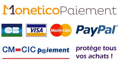 Paiement sécurisé PayPal - Monetico